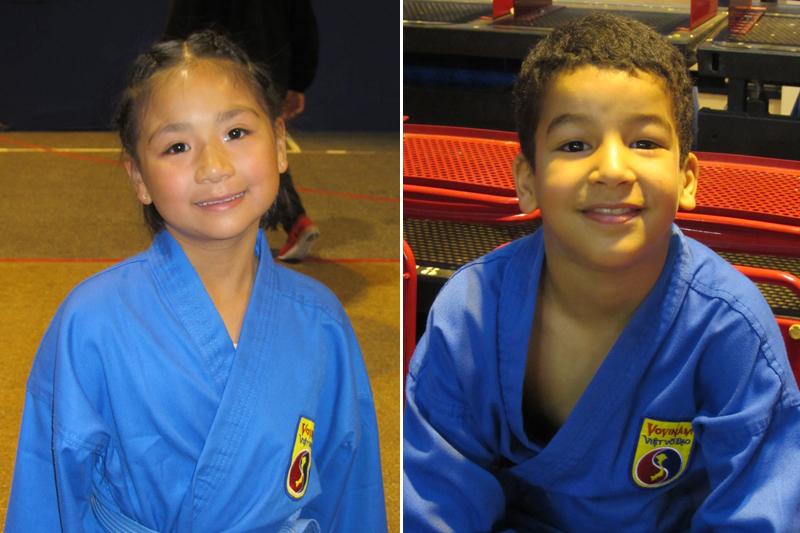 Nos jeunes compétiteurs Minh-Anh et Yacoub