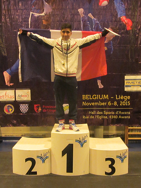 Mehdi Boukhriss, Champion d'Europe Junior -60 kg