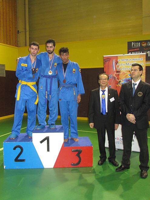 Catégorie Combat – Brahim – Médaille d'Or, Thomas – Médaille d'Argent
