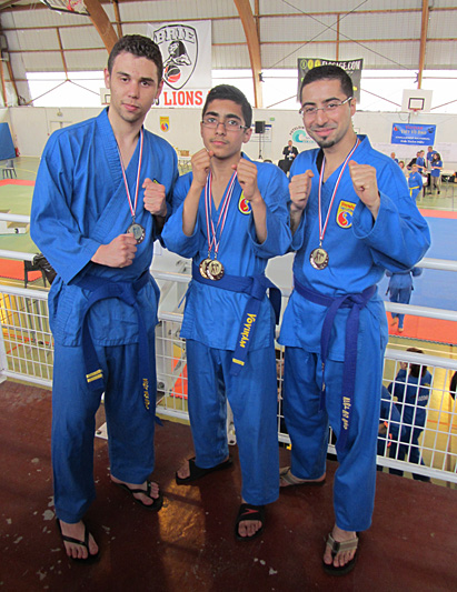 Thomas Tran, Mehdi Boukhriss et Brahim Boukhriss