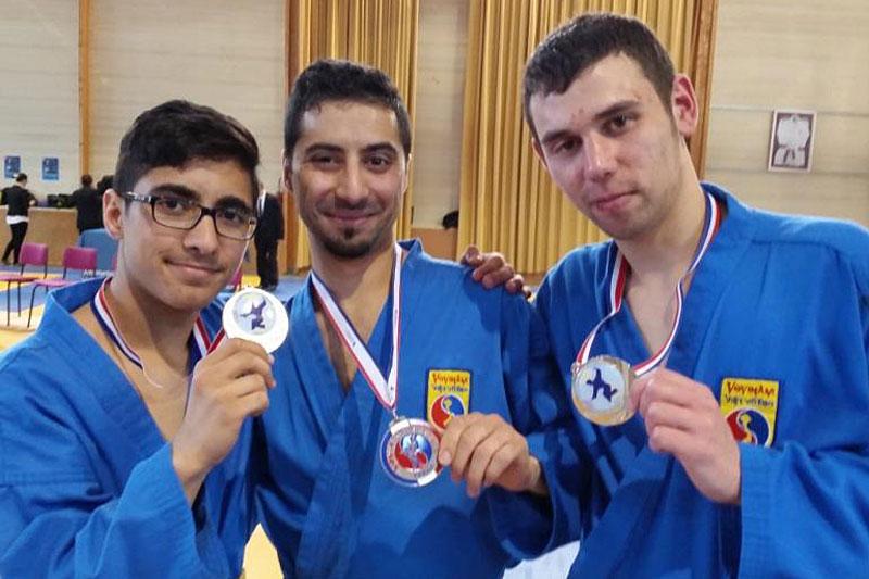 Mehdi Boukhriss, Brahim Boukhriss et Thomas Tran